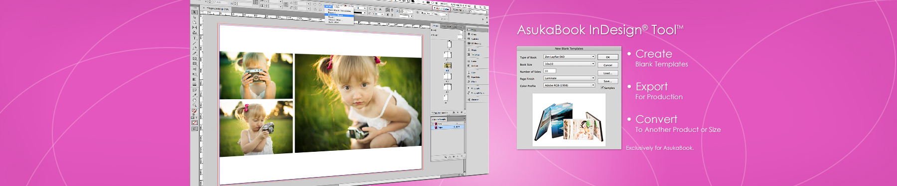 AsukaBoook InDesign Tool Banner
