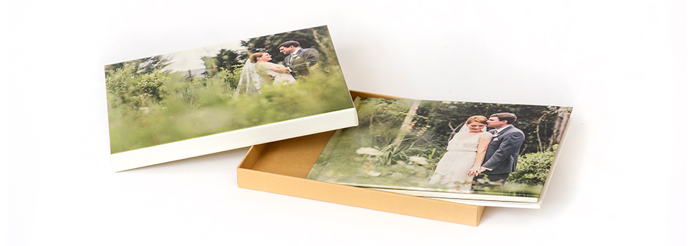AsukaBook Art Layflat Photo Book Gift Style Box with Designable Lift-top and Natural Tan Bottom