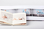 AsukaBook Art Layflat Photo Book Ivory and white art paper samples