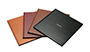 AsukaBook Book Bound LX Leather Photo Book Saddle, Bordeaux, Brown, and Black leather covers with hot stamp