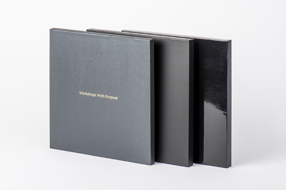AsukaBook Zen Layflat EX Photo Book cases in Black Pearl, Black Matte and Black Glossy