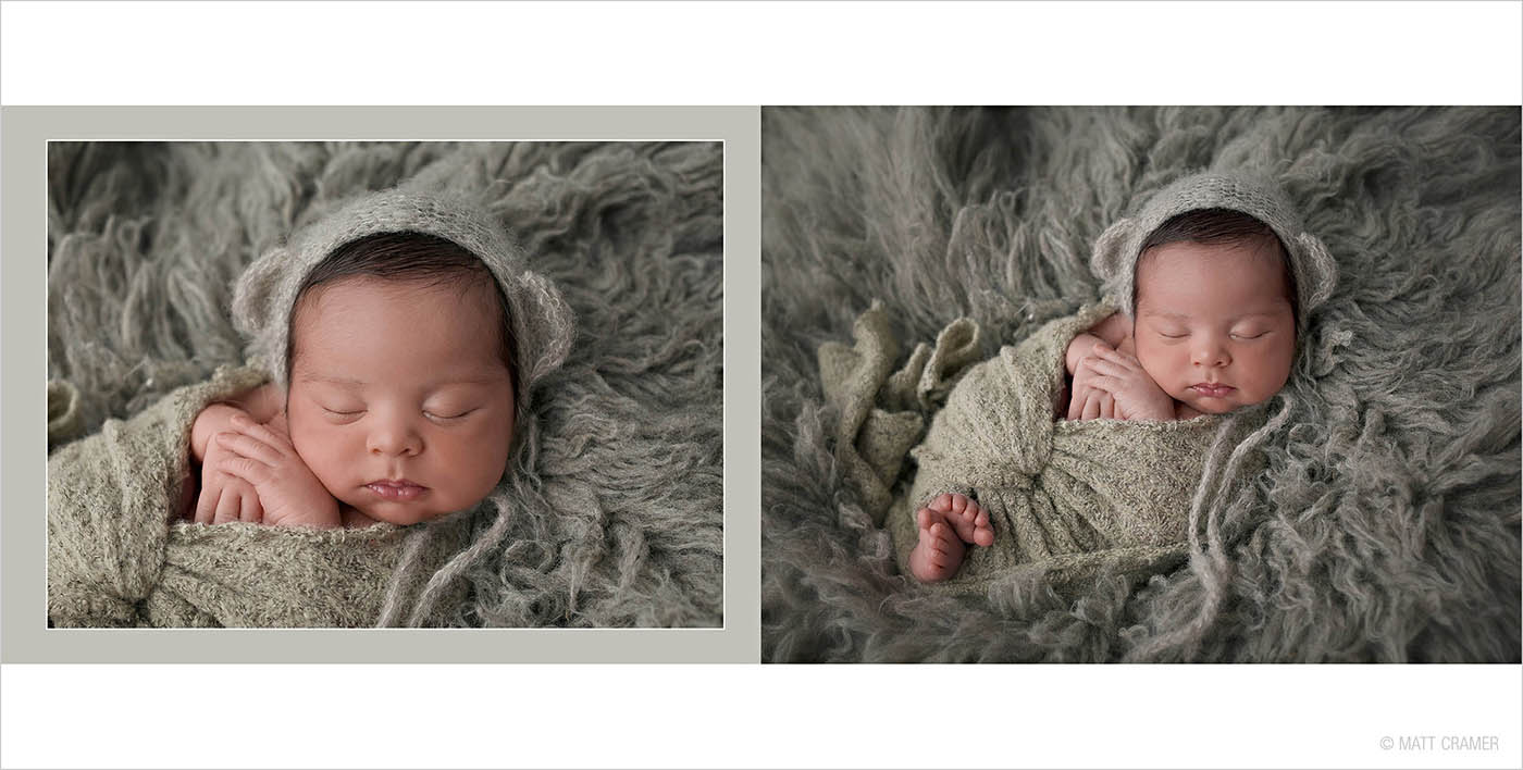 Studio Elle Newborn Photo Album Design Sample